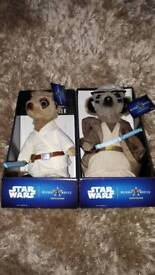 Starwars limited edition meerkats brand new with certificates