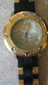 Mens ice bling watch