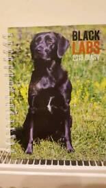 Black Labradors calender