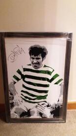 Signed Celtic Bertie Auld Framed Canvas.