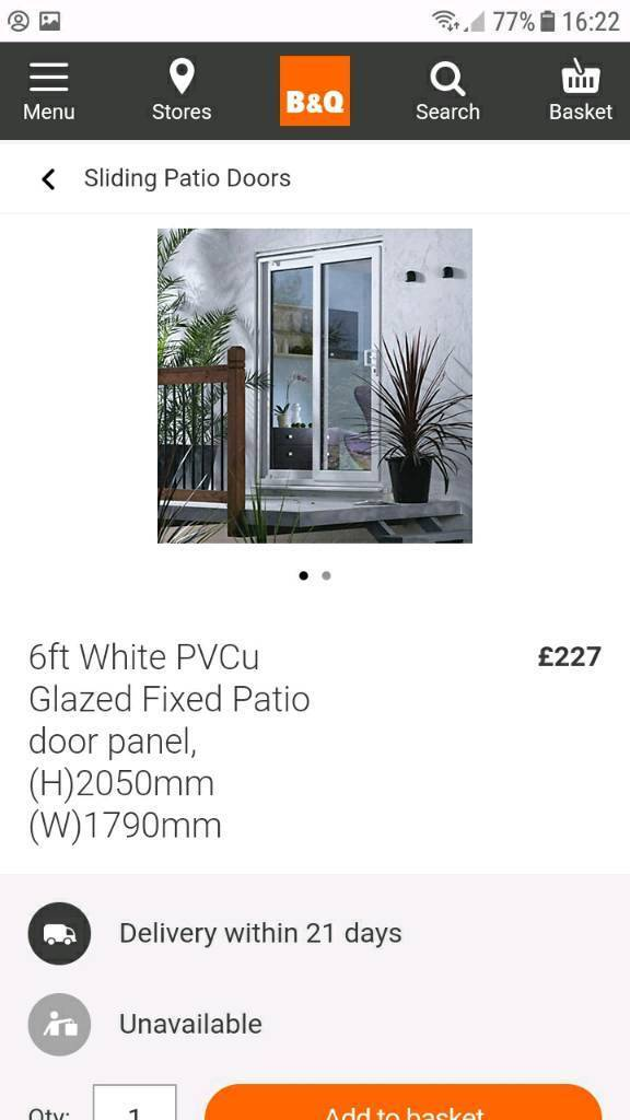 Bq Patio Door Fixed Panel Only 6ft White In Hull East Yorkshire