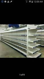 Shop shelving, wall, Gandola,End Bay, Fridge,
