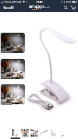 LED Desk Lamp, GEREE Portable Table Lamps Touch Control Eye-protected Reading Book Light