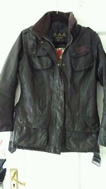 Beautiful Authentic Liberty Printed Barbour International Jacket RRP 299 size 10