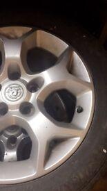 Alloy wheels off a Vauxhall