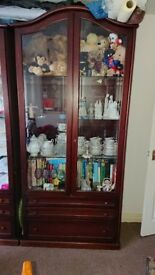 Two Large display cupboards