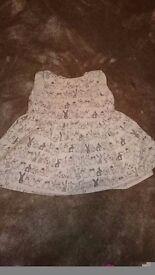 Next bunny dress 3-6 mnths