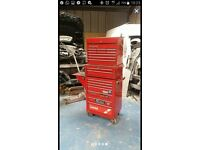 Snap on tool boxes top mid and roll cab