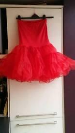 Ladies red petticoat/underskirt