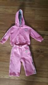 Girls Converse Tracksuit 6-9 months