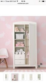 Mothercare Padstow Wardrobe and Changing unit- Porcelain White