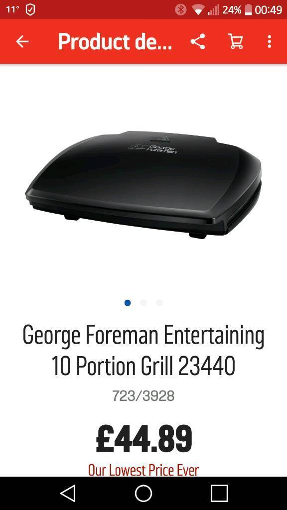 GEORGE FOREMAN 10 PORTION HEALTH GRILL