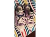 Converse all star pumps ladies size 4 Lilac Worn a couple of times