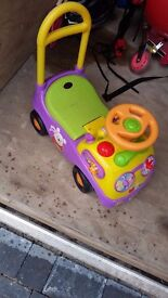 disney winnie the pooh push along car walker