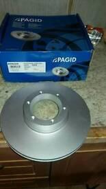 Renault master / movano pair of front brake discs