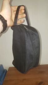 Black toiletries bag