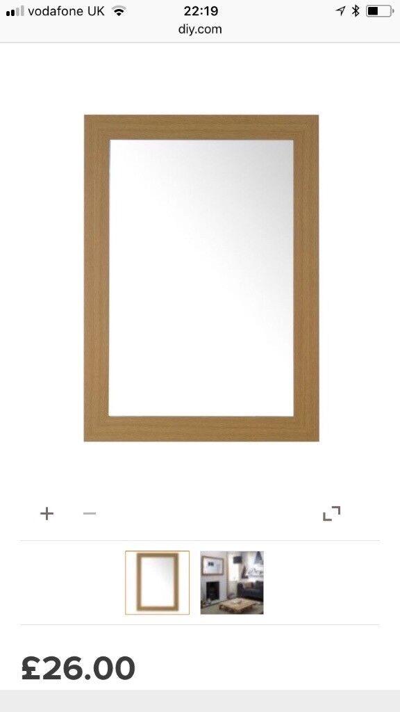 Oak style mirror