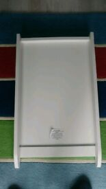 White cot top changer changing unit - very good condition