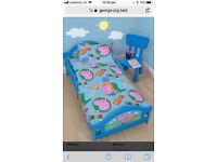 George pig canvas toddler bed