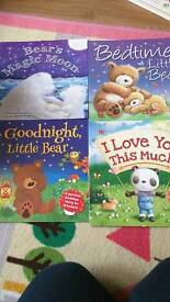 4 books with case brand new