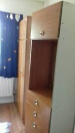 Schrieber Wardrobe and dressing table (small)