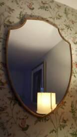 2 Large shield mirrors L89 x W63cm