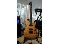 Ibanez S621 electric guitar in vintage natural flat with IronGear Hammerhead pickups