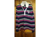 Ladies CREW rugby shirt, Size 16, very good condition