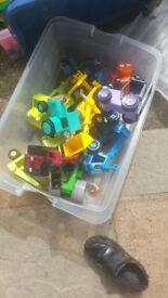Job lot box of Bob the Builder toys