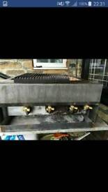 Commercial 3 burner gas grill home or takeawy