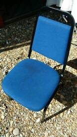 Office Blue Metal Chairs in Good Condition