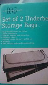 Set of 2 underbed storage bags, new