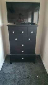 Tall black drawers