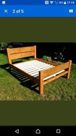 RUSTIC STYLE DOUBLE BED