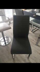 Barker and stone house grey leather dining chairs made to order