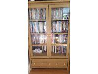 Dvd/cd storage cabinet