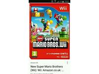 WANTED wii super mario bros game
