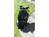 Golf clubs and bag like new only used 3times