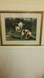 Dogs watercolour painting