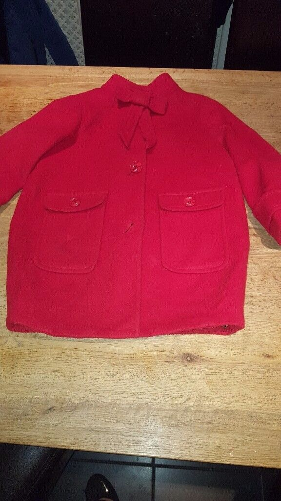 Girls red Next Coat age 6