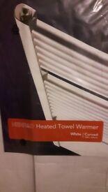 Henrad Curved White Towel Radiator 1400mmH x 600mmW