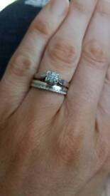 White 9kt gold Wedding and engagement rings £100 each