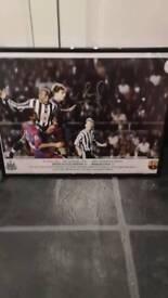 Signed Tino Asprilla Picture of 3-2 Barca win