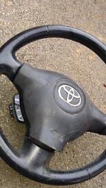 Toyota Yaris steering wheel