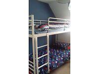 Bunk bed white metal ikea