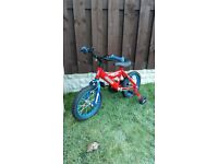 """Boys 14 """" bike silverfox like new can deliver for a small charge"""