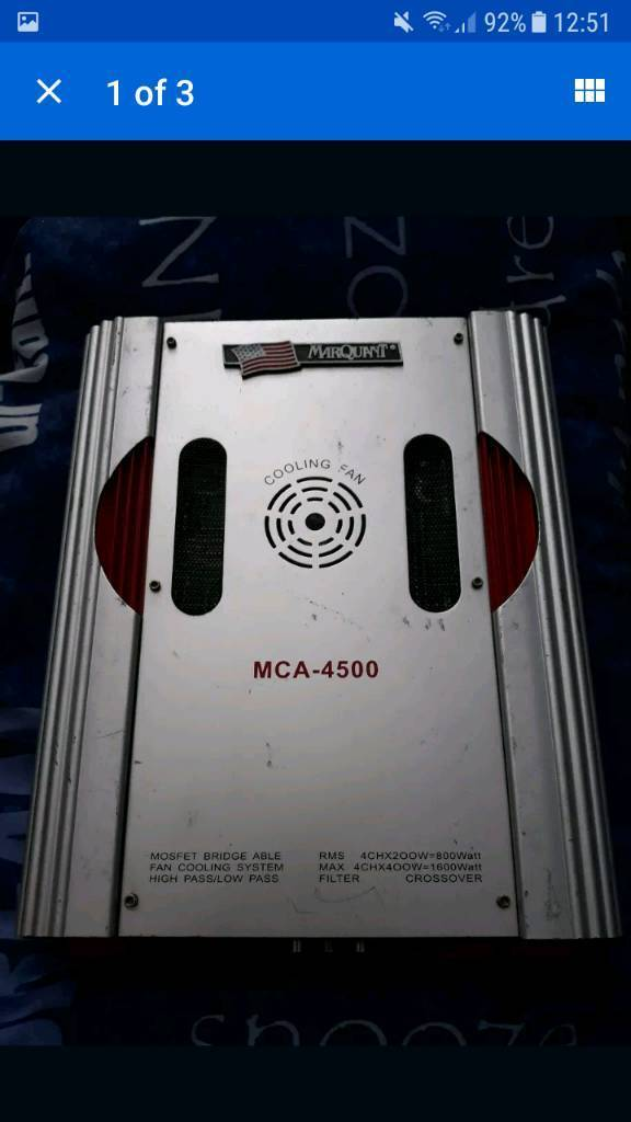 mcquent 4ch competition amp amplifier subs speakers 800w rms big power