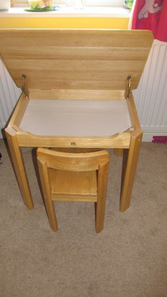 Pintoy Natural Wooden Desk And Chair In Newcastle Tyne