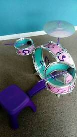 Childrens first drum set