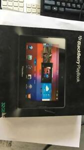 "BlackBerry Playbook Tablet 7""inch LCD Wireless 32GB HD with extra charging pod"